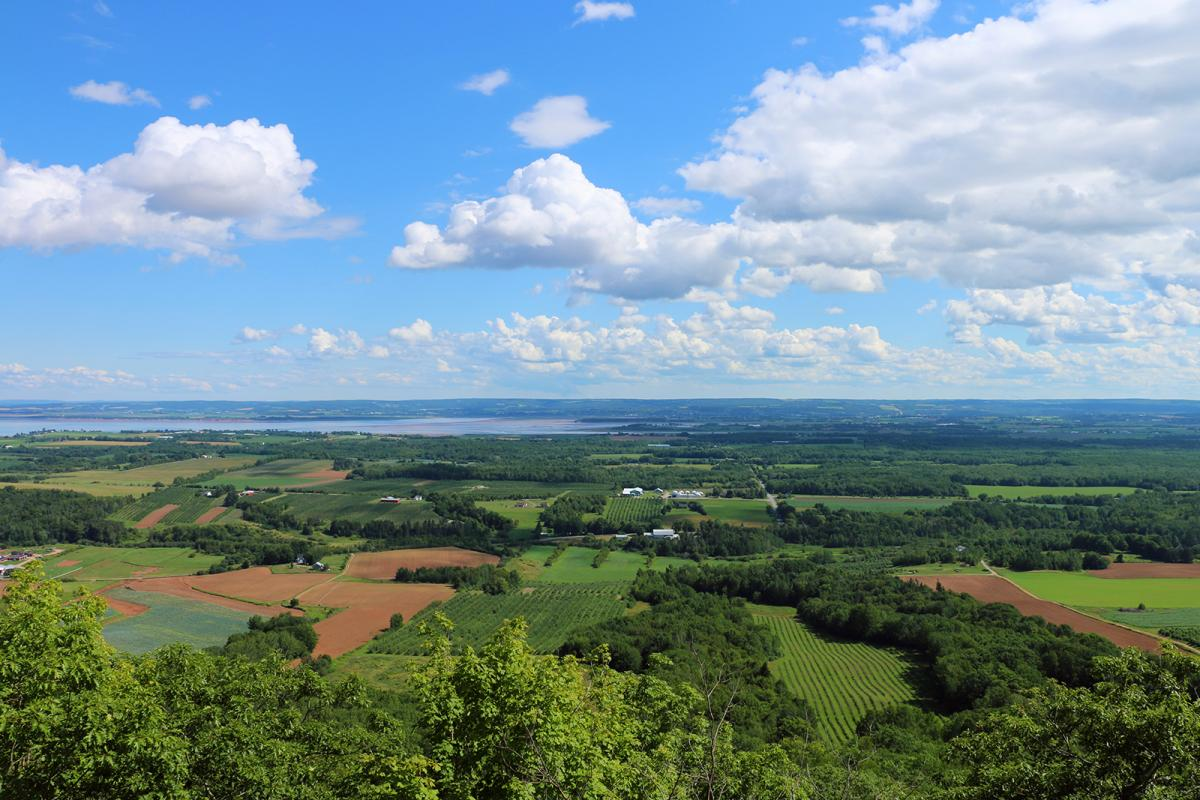 A view over the Annapolis Valley, Nova Scotia