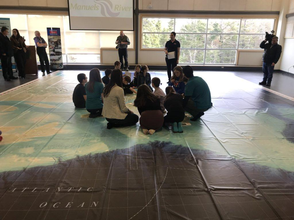 Map Of Canada For Elementary Students.Can Geo Education Unveils New Giant Floor Map Of Newfoundland And
