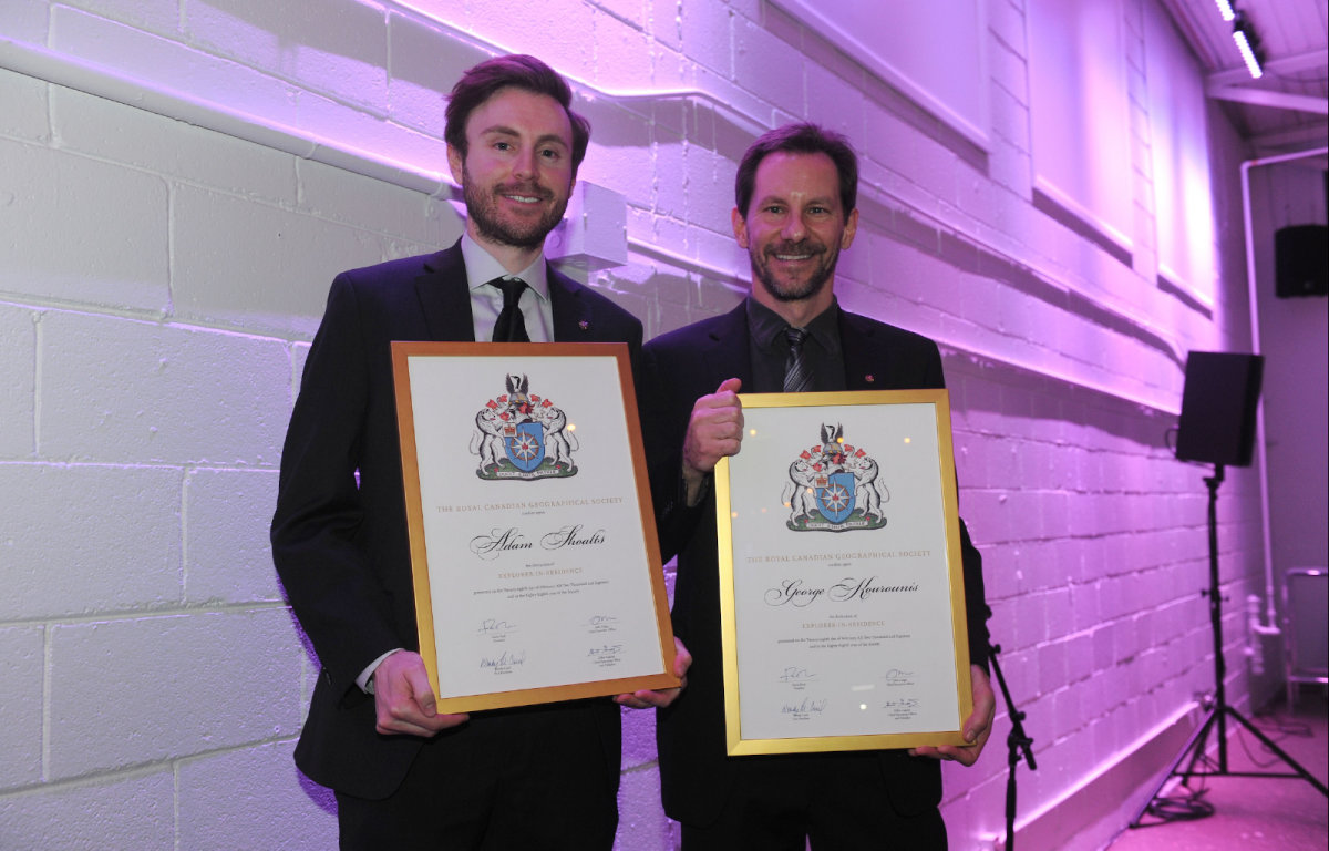 Adam Shoalts, left, and George Kourounis were announced as Explorers-in-Residence of the RCGS on February 28
