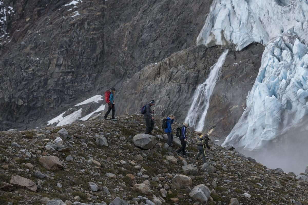 hikers in the Cariboo Mountains