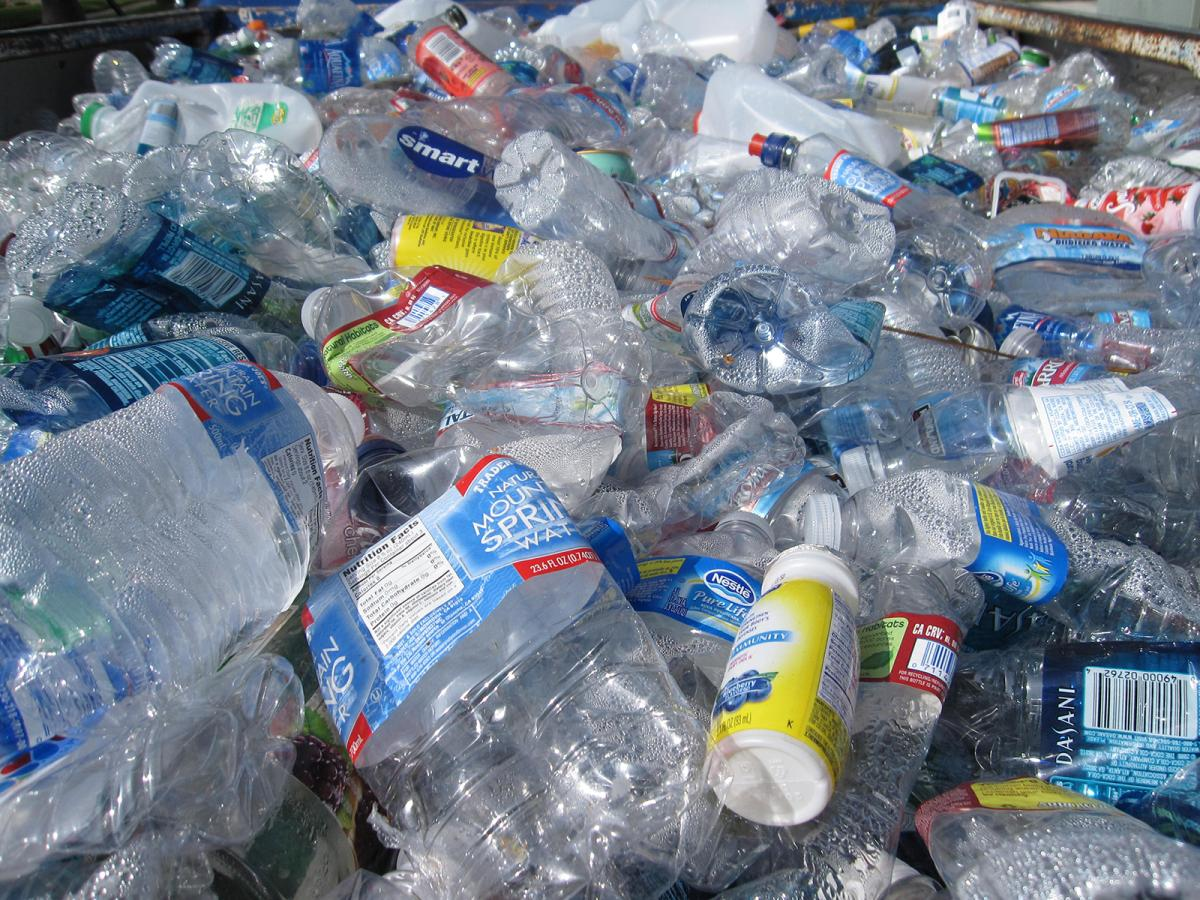 Plastic bottles and recyclables