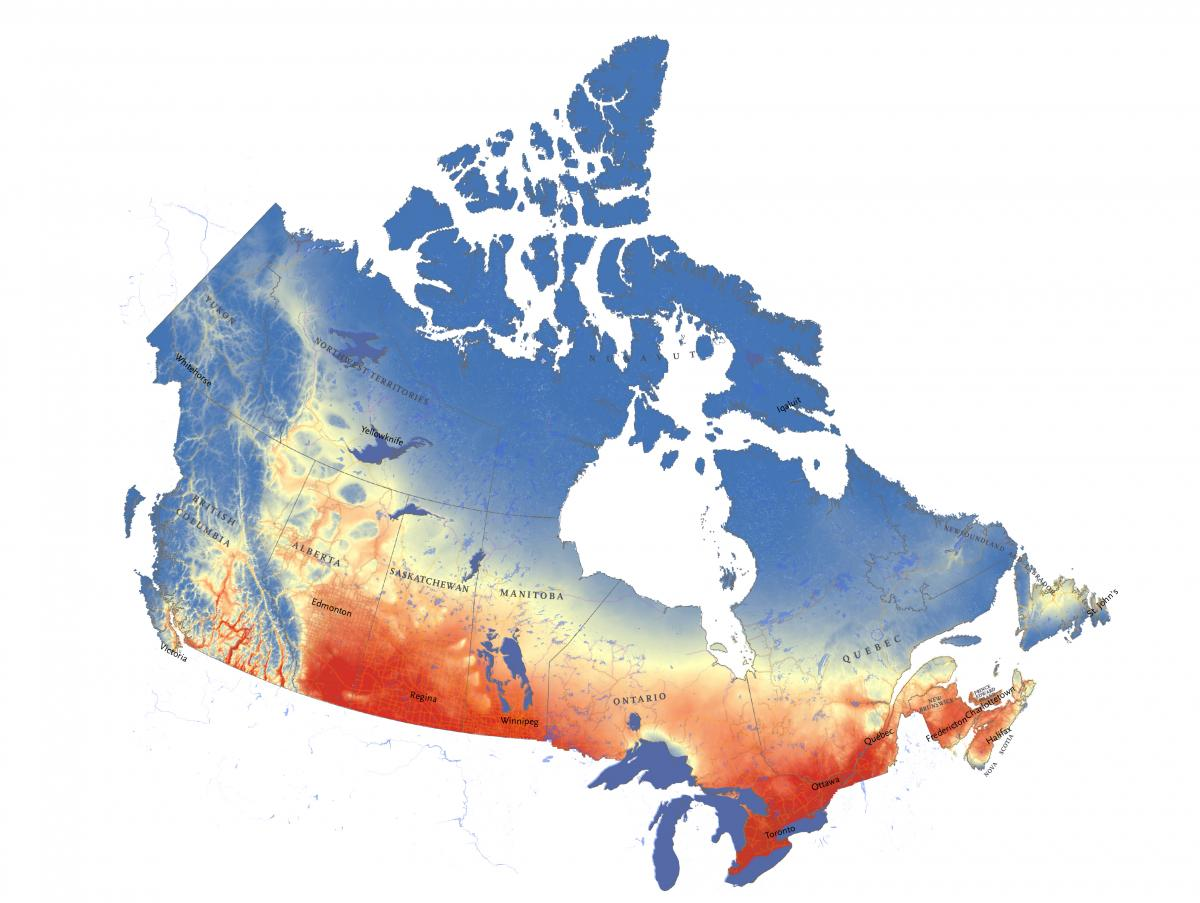 Map Of Canada Yellowknife.Mapping Canada S Climate Future Canadian Geographic
