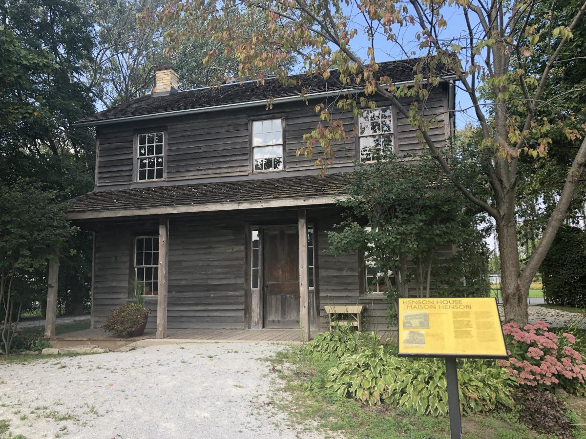 Josiah Henson, log cabin, Ontario, historic site