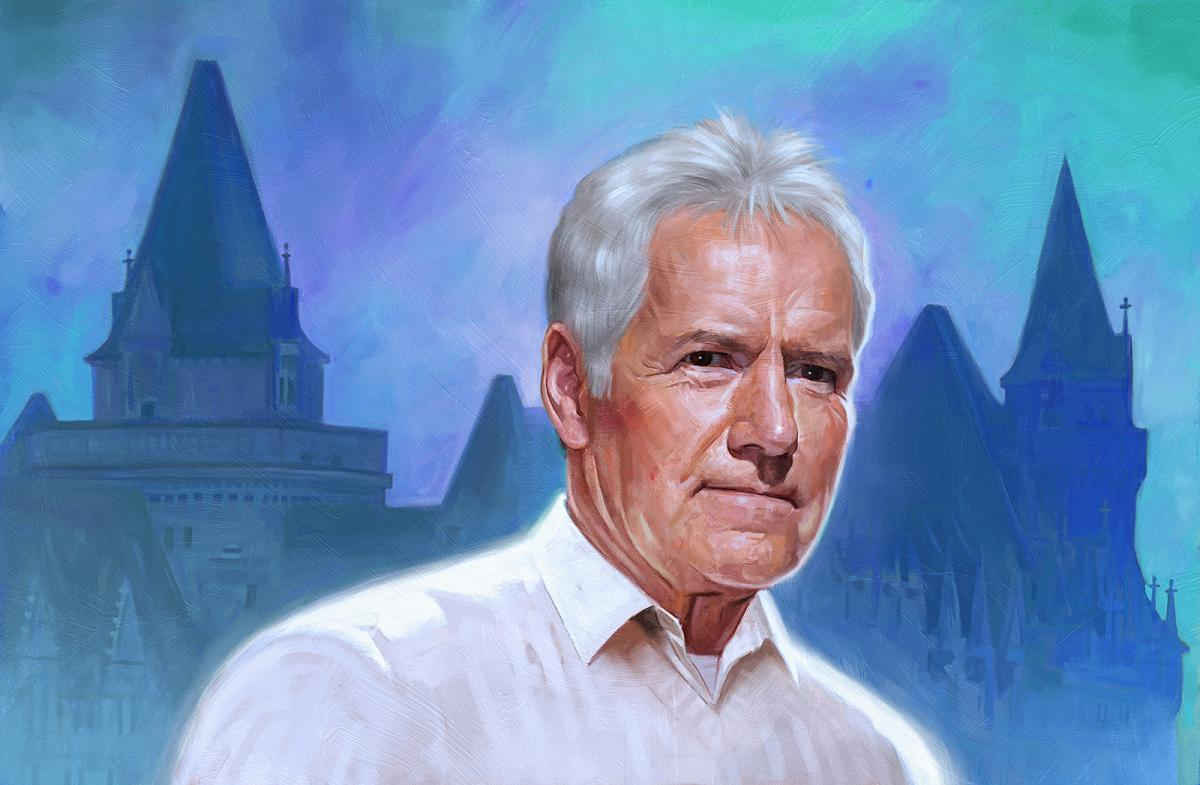 A painting of Alex Trebek