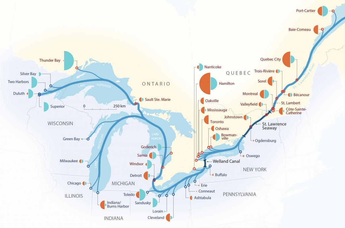 Map Of Canada 60th Parallel.Celebrating 60 Years Of The St Lawrence Seaway Canadian Geographic