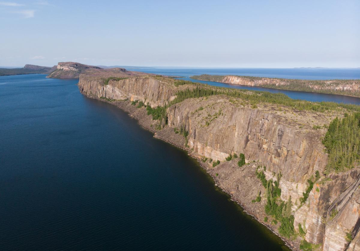 Dramatic cliffs in Thaidene Nene National Park Reserve