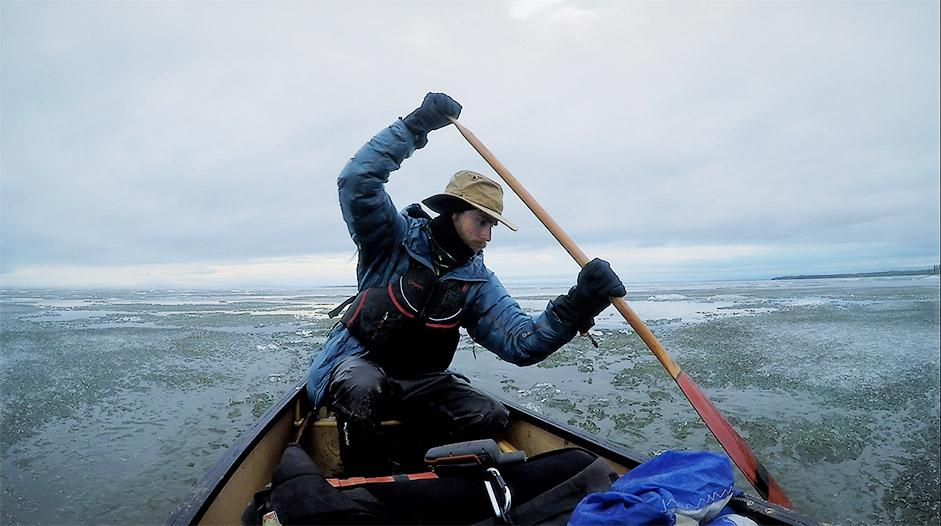 Adam Shoalts paddles across Great Bear Lake