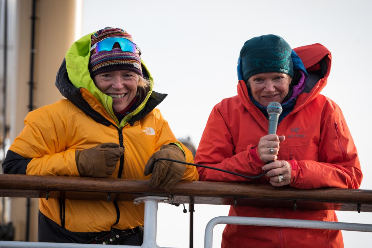 Two female adventurers prepare to overwinter in Svalbard