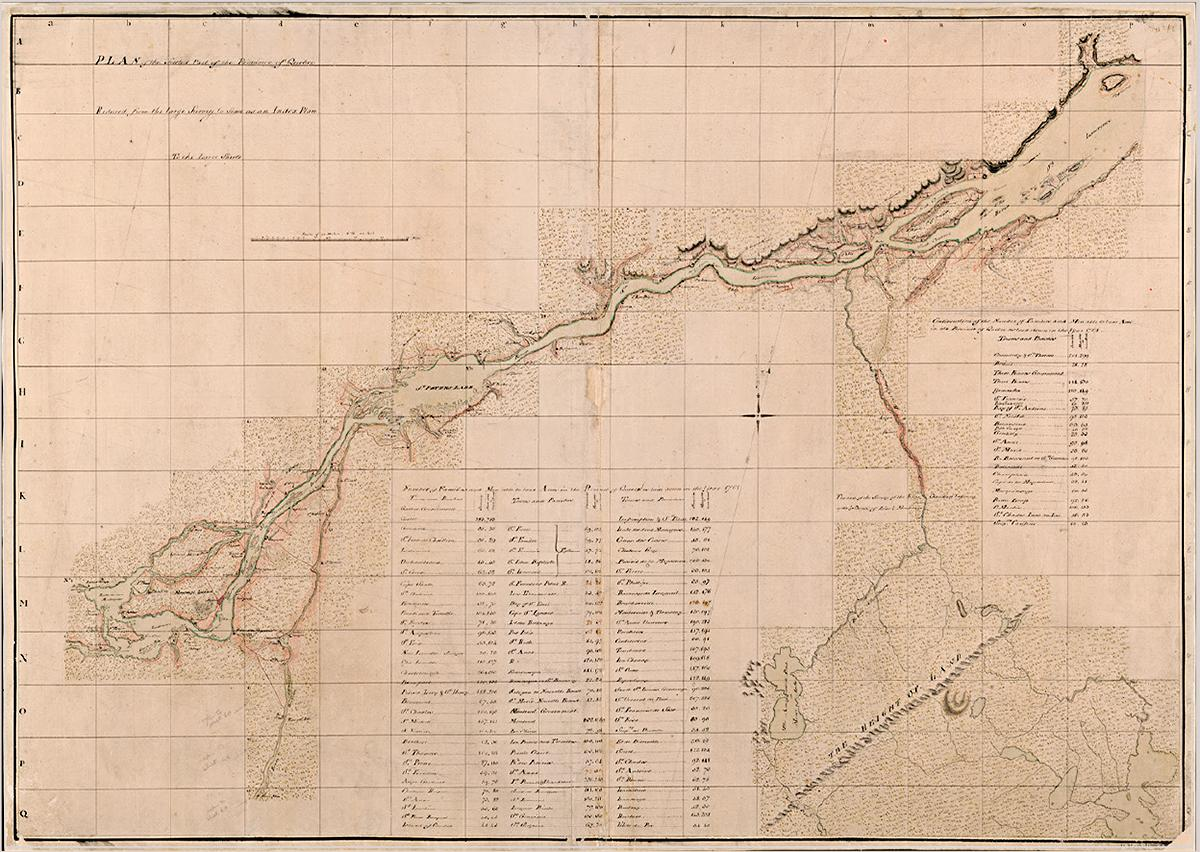General James Murray's map of the St. Lawrence, 1763. Library and Archives Canada, NMC 135035