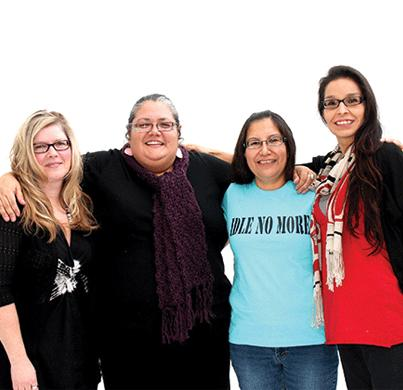 Sheelah McLean, Nina Wilson, Sylvia McAdam and Jessica Gordon began the Idle No More movement last year