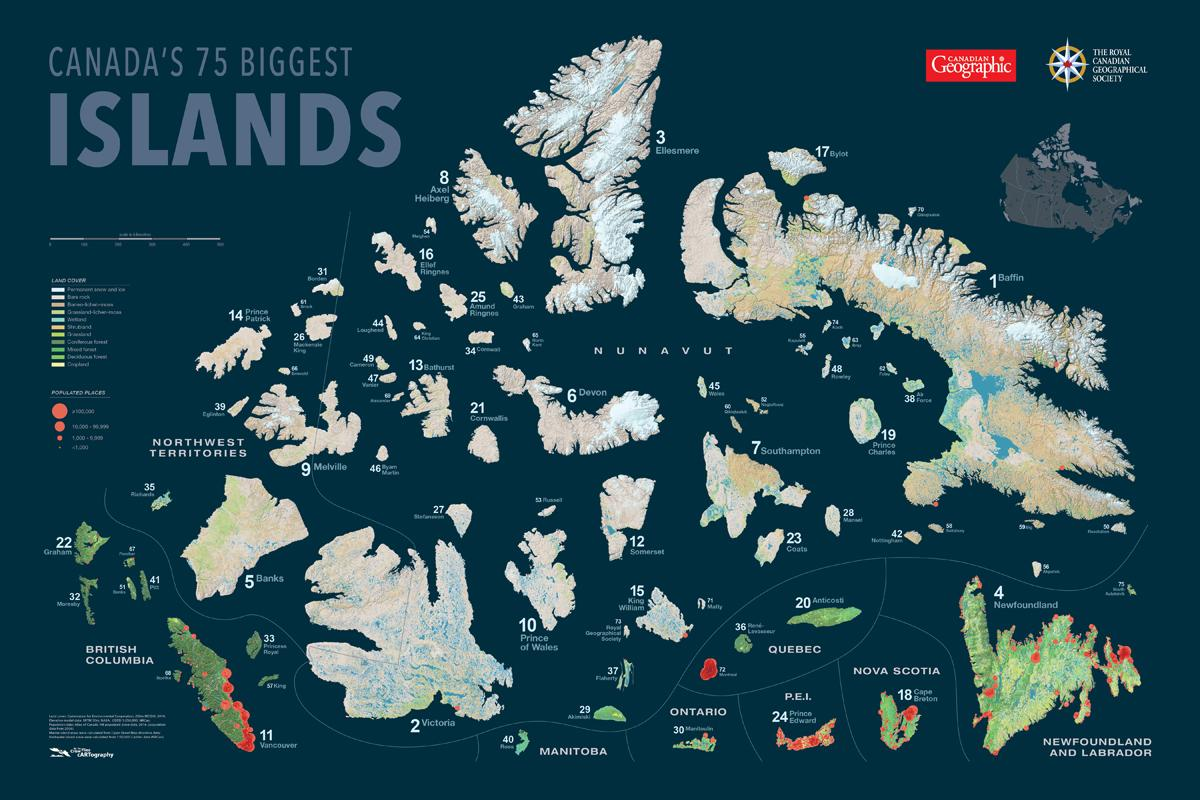 Canada's 75 biggest islands