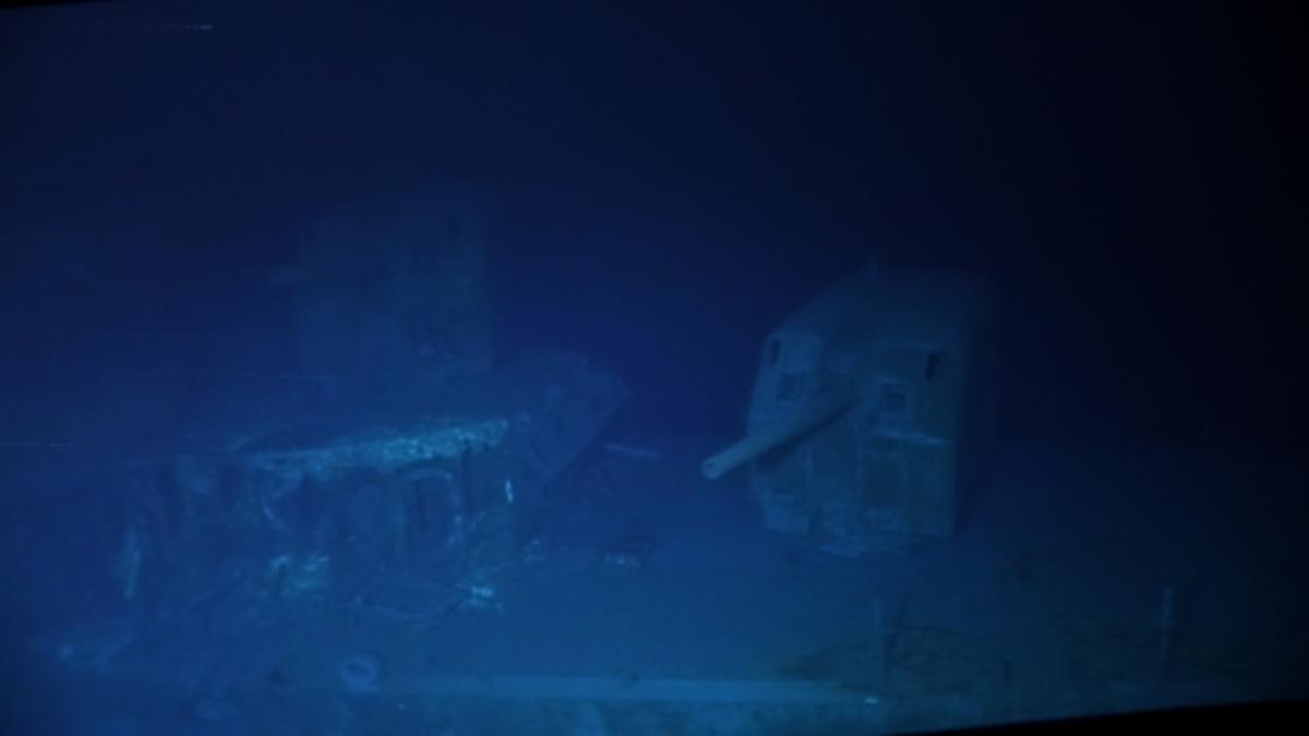 The USS Johnston shipwreck