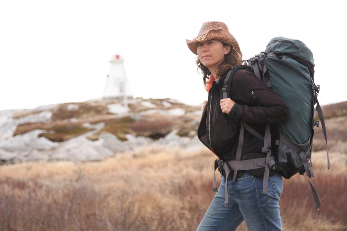 Dianne Whelan on the Trans Canada Trail