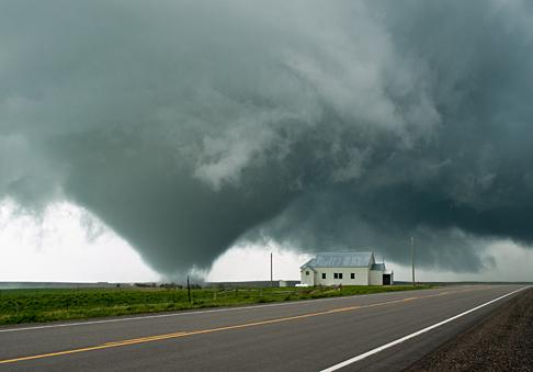 A tornado touches down in South Dakota
