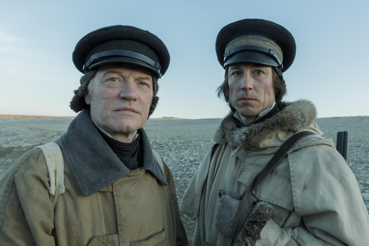 Jared Harris as Capt. Francis Crozier and Tobias Menzies as Capt. James Fitzjames in The Terror