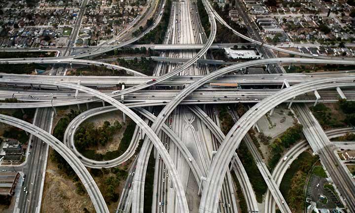 Highway #1, Los Angeles, California, USA, 2003 by Edward Burtynsky